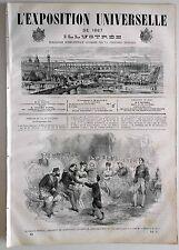 L'Exposition Universelle Illustrée n°41- 1867 : Le Prince Impérial à la fête ...