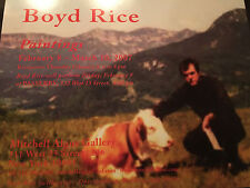 BOYD RICE postcard death in june coil neofolk cold cave  current 93 merzbow nin
