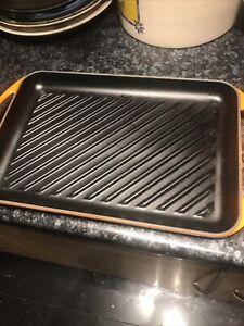 Le Creuset Large 33 Griddle Rectangular Pan Orange