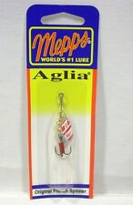 Mepps Aglia French Spinner 1/12 Silver Red White Fishing Lure Treble Hook