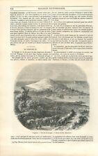 Panorama de La Corogne ville de Galice Espagne dessin de Blanchard GRAVURE 1851