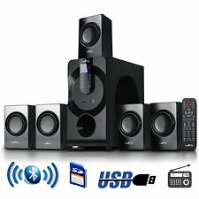 BeFree 5.1 CHANNEL SURROUND SOUND BLUETOOTH HOME THEATER SPEAKER SYSTEM BLACK