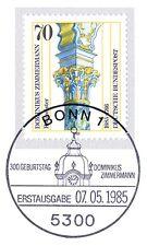 BRD 1985: Dominikus Zimmermann Nr 1251 mit Bonner Ersttags-Sonderstempel! 1A 157