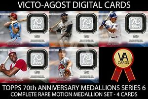 Topps Bunt 70th Anniversary Medallions Series 6 COMPLETE SET 4 Cards [BUNT APP]