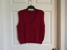 EUC Haberdashery by personal womens burgundy sweater vest.  see descrip.
