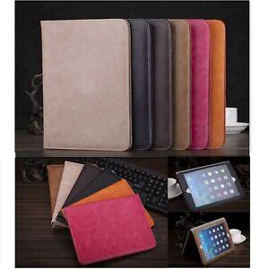 Premium Luxury PU Leather Smart Plain Case Cover Apple iPad Tablet Air 2 5th 6th
