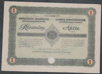 H: Landes Industriebank Actiengesellschaft Nov. 1927 25 Pengo mit Restkup.