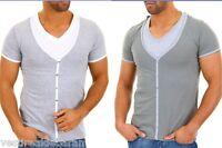 T-Shirt Uomo 2in1 Effetto Canotta+Maglietta SUBLEVEL A786 Tg S  XL XXL