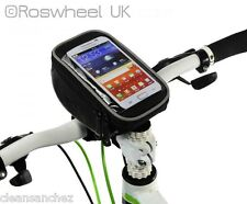 NEW BIKE HANDLEBAR STEM MOBILE PHONE BAG HOLDER - ROSWHEEL 11810 iPhone Galaxy