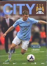 Hombre Ciudad V Everton 2013/14 programa Mint Manchester