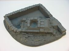 WWII & KOREA BURNT OUT TANK & WALL/DEBRI 54mm FOAM ATHERTON SCENICS (#9907-UP)