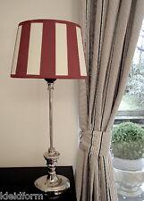 Stehlampe Tischlampe Lampe Streifen Klassisch EDEL Lampenschirm Oval Lampenfuß