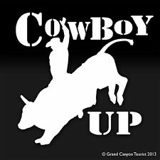 Cowboy Up Country Horse Cowboy Farm Bull Riding Decal Sticker Country Western