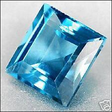 2,25 ct  London Blue Topaze - Square cut - VVS - Brazil