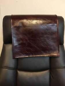 "24x30 "" BURGUNDY Ash distressed sofa head arm rest furniture recliner protector"
