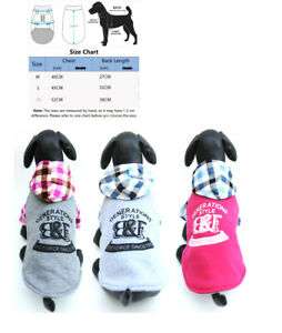 Small Dog Pet Hoodie Puppy Cat Coat Winter Warm sweater clothes clothing