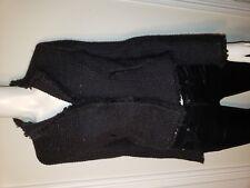 $890 Les Copains 38 Black Designer Luxury Sparkling Black Blazer