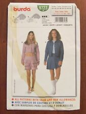BURDA PATTERN - 9723 FITTED JACKET PRINCESS SEAMS CROPPED SIZE 7 - 14jun UNCUT