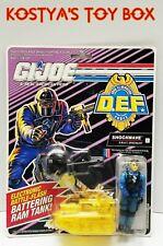 GI Joe SHOCKWAVE DEF Force 1991 MOC Hasbro New Vintage Action Figure & Swat Tank