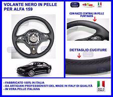 VOLANTE RIVESTITO IN VERA PELLE NERO ALFA 159 MADE IN ITALY STERZO MANUBRIO