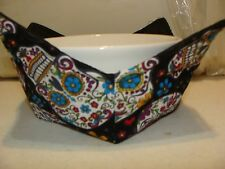 Microwave Bowl Holder Sugar Skulls Bk Print Bowl Cozy Bowl Potholder  Bowl Cover