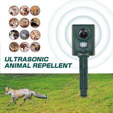 More details for ultrasonic cat dog fox pest battery repeller garden scarer deterrent repellent