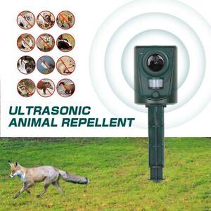 Ultrasonic Cat Dog Fox Pest Battery Repeller Garden Scarer Deterrent Repellent