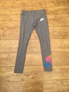 Girls Nike Grey Leggings Medium