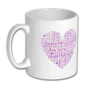 Mum Words in Love Heart Gift Mug