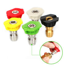 Quick Connector Car Washing Nozzles 5pcs/1 set 1/4 Metal Jet Lance Nozzles