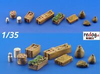 Redog 1:35  Food Supply Items Resin Modelling Stowage Accessories/Detailing Kit