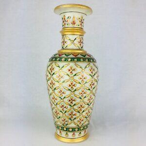 Marble Stone Vase Narrow Necked Handcarved Art Flower Vase GIFT