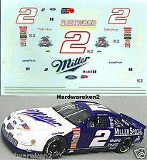 NASCAR DECAL # 2 MILLER SPECIAL 1997 FORD THUNDERBIRD SUZUKA JAPAN SCHEME