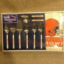 NEW IMPERIAL NFL CLEVELAND BROWNS TEAMWARE SERVING/BUFFET SET RARE