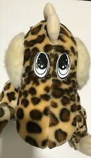 "BJ Toy Co Dinosaur Plush Stuffed Animal Dragon Leopard Brown Spots 14"" Vintage"