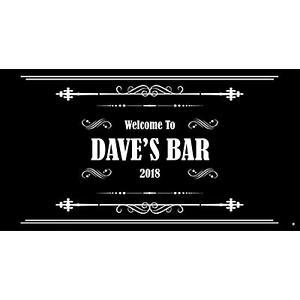 Personalised Bar Runner Ornate Man Cave Novelty Bar Gifts Pub Cocktail Beer Mat