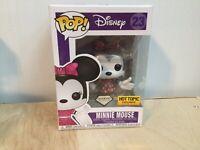 FUNKO POP VINYL Disney MINNIE MOUSE DIAMOND COLLECTION HOT TOPIC Exclusive C8+