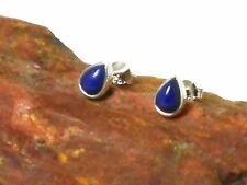 LAPIS  Gemstone  Sterling  Silver  925  Blue  Earrings / STUDS