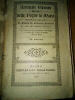 1916 minilibro Manuale Grande delle figlie di Maria