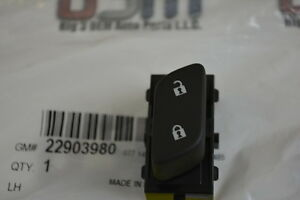 Chevrolet Sonic Malibu Equinox LH Driver Side Door Lock Switch new OEM 22903980