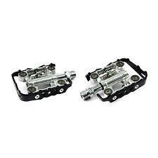 "Wellgo WPD-M17C Clipless / Flat Platform MTB SPD 9/16"" Pedals - Silver x Black"