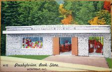 1940 Linen Postcard: Presbyterian Book Store/Christian Education - Montreat, NC