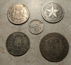 Old World SILVER Foreign Coins Lot. 3 Centuries. Super Cool Antique Lot.