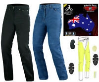 Australian Bikers Gear CE Armour Men Motorcycle Jeans Trouser Lined with KEVLAR