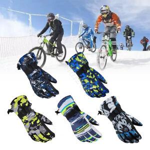 Winter Waterproof Anti-slip Outdoor Sports Warm Thermal Velvet Ski Snow Gloves
