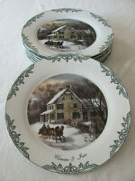 Four Star Int'l-Museum City of New York-Currier & Ives- Dinner Plate(s)-7 Avail