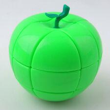 YJ 3X3x3 Apple Shape Magic Cube Twist Puzzle Children's  Intelligence Toys green