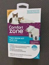 Comfort Zone Calming Multi-Cat Diffuser for Cats & Kittens, 2 Room (2 Pack)