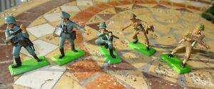 Vintage Britains Deetail Soldiers - German and British Infantry Circa 1971