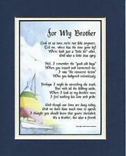 A Gift Present Poem For A Brother, #64. 30th 40th 50th 60th 70th 80th Birthday G